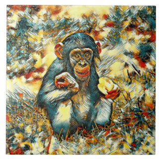 AnimalArt_Chimpanzee_20170603_by_JAMColors Tile