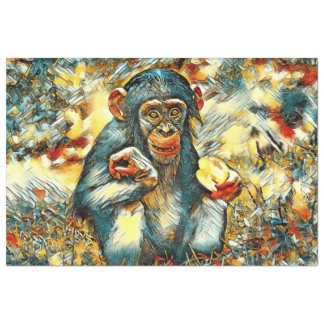 AnimalArt_Chimpanzee_20170603_by_JAMColors Tissue Paper