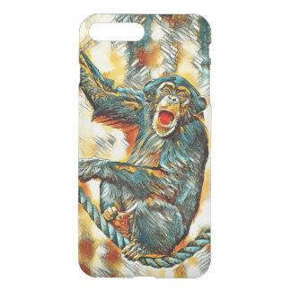AnimalArt_Chimpanzee_20170901_by_JAMColors iPhone 8 Plus/7 Plus Case