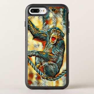 AnimalArt_Chimpanzee_20170901_by_JAMColors OtterBox Symmetry iPhone 8 Plus/7 Plus Case