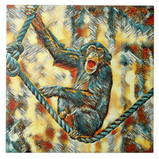 AnimalArt_Chimpanzee_20170901_by_JAMColors Tile