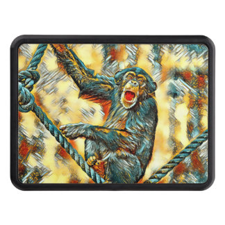 AnimalArt_Chimpanzee_20170901_by_JAMColors Trailer Hitch Cover