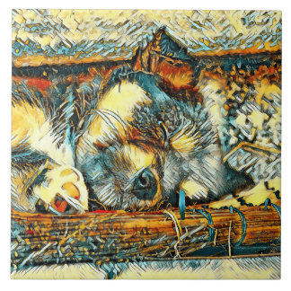 AnimalArt_Dog_20170906_by_JAMColors Tile