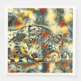 AnimalArt_Leopard_20170605_by_JAMColors Paper Napkins