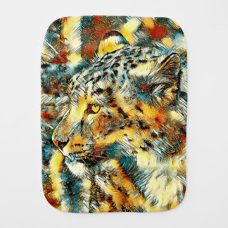 AnimalArt_Leopard_20170606_by_JAMColors Burp Cloths