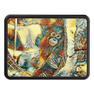 AnimalArt_OrangUtan_20170605_by_JAMColors Trailer Hitch Cover