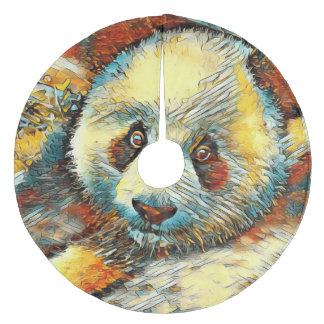 AnimalArt_Panda_20170601_by_JAMColors Fleece Tree Skirt