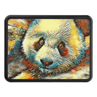 AnimalArt_Panda_20170601_by_JAMColors Trailer Hitch Cover