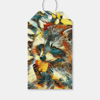 AnimalArt_Raccoon_20170601_by_JAMColors Gift Tags