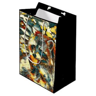 AnimalArt_Raccoon_20170601_by_JAMColors Medium Gift Bag