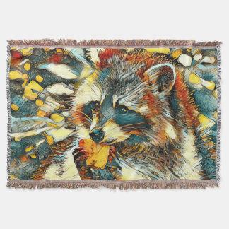 AnimalArt_Raccoon_20170601_by_JAMColors Throw Blanket