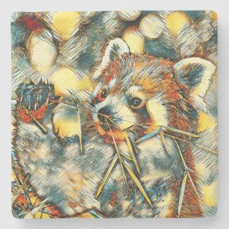AnimalArt_RedPanda_20170702_by_JAMColors Stone Coaster
