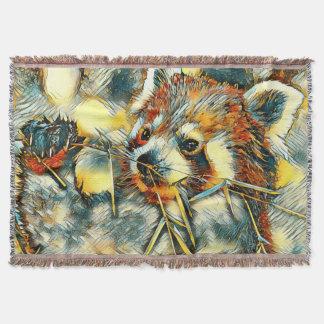 AnimalArt_RedPanda_20170702_by_JAMColors Throw Blanket