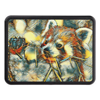 AnimalArt_RedPanda_20170702_by_JAMColors Trailer Hitch Cover