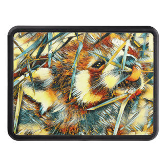 AnimalArt_RedPanda_20170706_by_JAMColors Trailer Hitch Cover