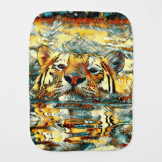 AnimalArt_Tiger_20170601_by_JAMColors Burp Cloth