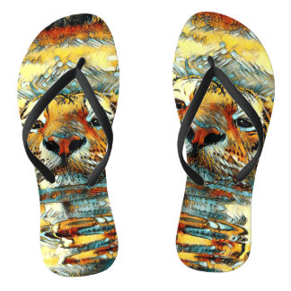 AnimalArt_Tiger_20170601_by_JAMColors Flip Flops