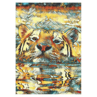 AnimalArt_Tiger_20170601_by_JAMColors Tablecloth