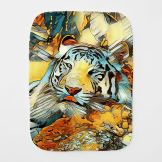 AnimalArt_Tiger_20170603_by_JAMColors Burp Cloth