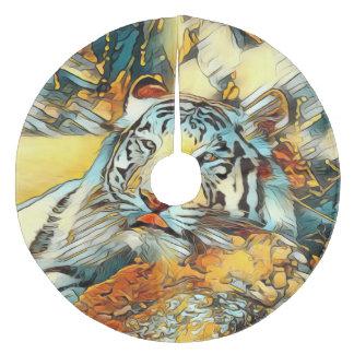 AnimalArt_Tiger_20170603_by_JAMColors Fleece Tree Skirt