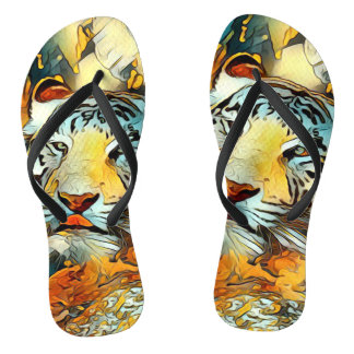 AnimalArt_Tiger_20170603_by_JAMColors Flip Flops