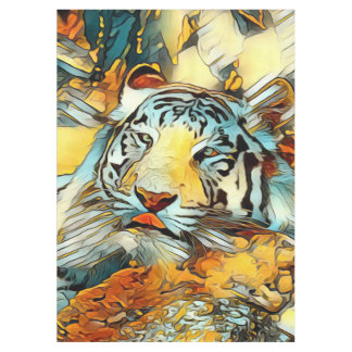 AnimalArt_Tiger_20170603_by_JAMColors Tablecloth