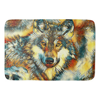 AnimalArt_Wolf_20170601_by_JAMColors Bath Mat