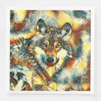 AnimalArt_Wolf_20170601_by_JAMColors Disposable Napkins