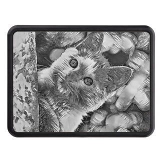 AnimalArtBW_Cat_20170927_by_JAMColors Trailer Hitch Cover
