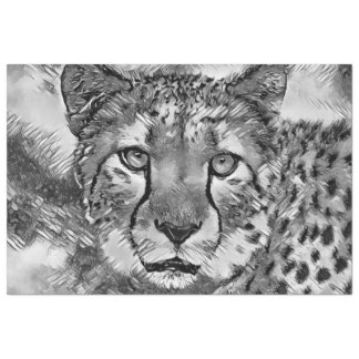 AnimalArtBW_Cheetah_20170604_by_JAMColors Tissue Paper