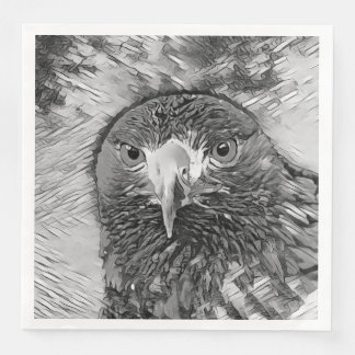 AnimalArtBW_Eagle_20170602_by_JAMColors Paper Dinner Napkin