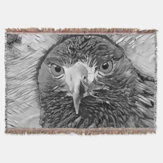 AnimalArtBW_Eagle_20170602_by_JAMColors Throw Blanket