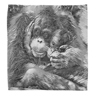 AnimalArtBW_OrangUtan_20170603_by_JAMColors Do-rags