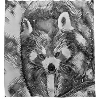 AnimalArtBW_RedPanda_20170701_by_JAMColors