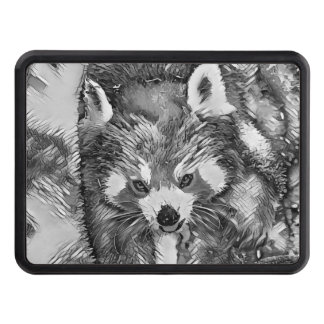 AnimalArtBW_RedPanda_20170701_by_JAMColors Trailer Hitch Cover