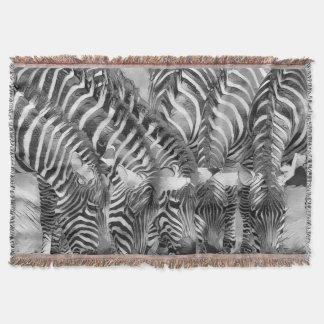 AnimalArtBW_Zebra_20170602_by_JAMColors Throw Blanket