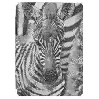 AnimalArtBW_Zebra_20170702_by_JAMColors iPad Air Cover