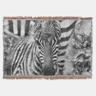 AnimalArtBW_Zebra_20170702_by_JAMColors Throw