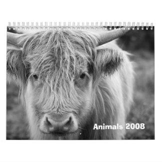 Animals 2008 calendars