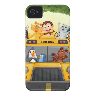 Animals and bus Case-Mate iPhone 4 cases