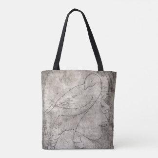 Animals and girl tote bag
