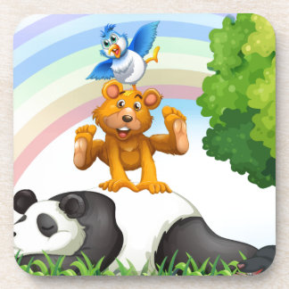 Animals and jungle drink coaster