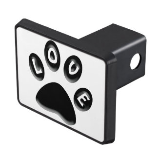 animals and pet lovers, paw print gifts trailer hitch cover