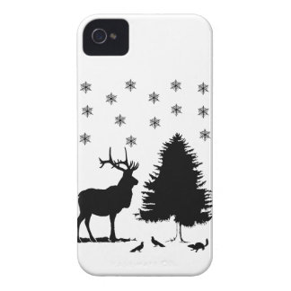 Animals and snow Case-Mate iPhone 4 case