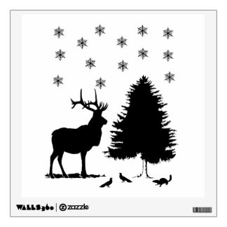 Animals and snow wall sticker