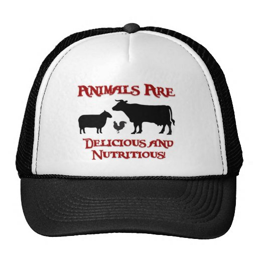 Animals are Delicious and Nutritious Mesh Hats