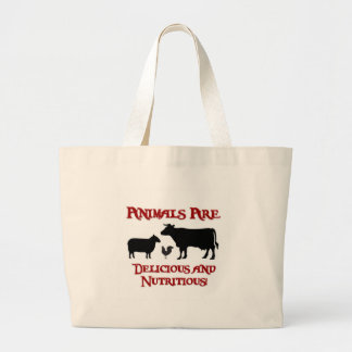 Animals are Delicious and Nutritious Jumbo Tote Bag