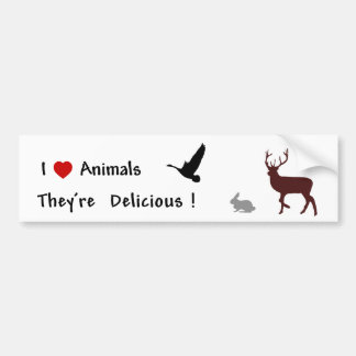 Animals Are Delicious Bumper Sticker