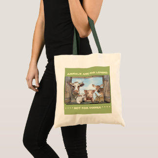 Animals are for loving tote bag