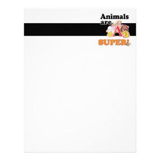 animals are super letterhead